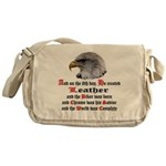 Biker Leather Eagle Prayer Messenger Bag