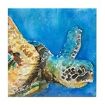 Sea Turtle 6 Tile Coaster