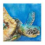 Sea Turtle 6 Tile Coaster