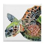 Sea Turtle 5 Tile Coaster