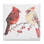 Cardinal Birds Tile Coaster