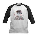 Biker Leather Eagle Prayer Kids Baseball Jersey