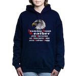 Biker Leather Eagle Pray Women's Hooded Sweatshirt
