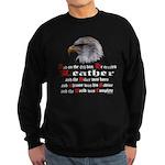 Biker Leather Eagle Prayer Sweatshirt (dark)
