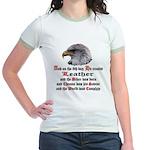 Biker Leather Eagle Prayer Jr. Ringer T-Shirt