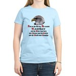 Biker Leather Eagle Prayer Women's Light T-Shirt