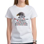 Biker Leather Eagle Prayer Women's T-Shirt