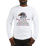 Biker Leather Eagle Prayer Long Sleeve T-Shirt