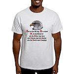 Biker Leather Eagle Prayer Light T-Shirt