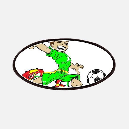 SOCCER BOY GREEN Patch
