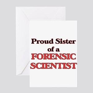 Proud Sister of a Forensic Scientis Greeting Cards