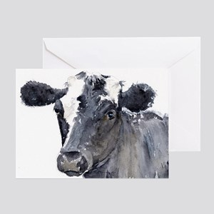 Black Cow Greeting Cards