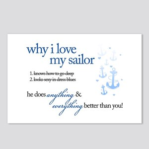 Why I Love My Sailor Postcards (Package of 8)