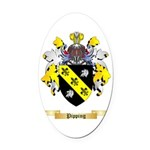 Pipping Oval Car Magnet