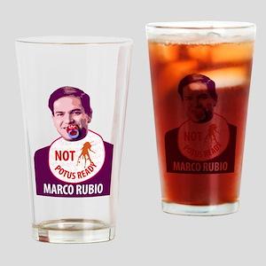 Marco Rubio Humor Drinking Glass