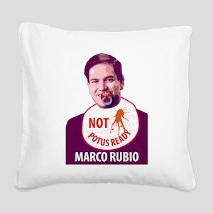 Marco Rubio Humor Square Canvas Pillow