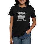 Christmas Bubble Bath Women's Dark T-Shirt