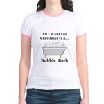 Christmas Bubble Bath Jr. Ringer T-Shirt