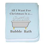 Christmas Bubble Bath baby blanket
