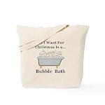Christmas Bubble Bath Tote Bag