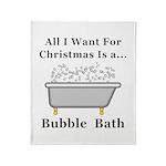 Christmas Bubble Bath Throw Blanket