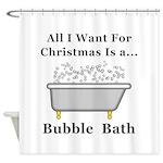 Christmas Bubble Bath Shower Curtain