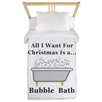 Christmas Bubble Bath Twin Duvet