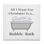 Christmas Bubble Bath Tile Coaster