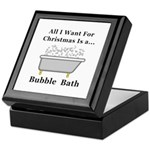 Christmas Bubble Bath Keepsake Box