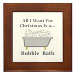 Christmas Bubble Bath Framed Tile