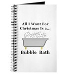 Christmas Bubble Bath Journal