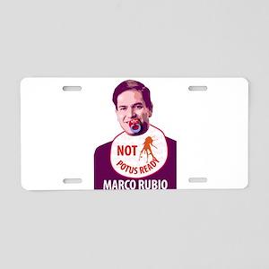 Marco Rubio Humor Aluminum License Plate