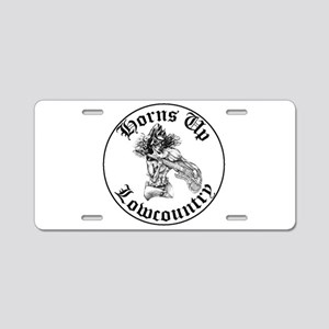 Horns Up Lowcountry Aluminum License Plate