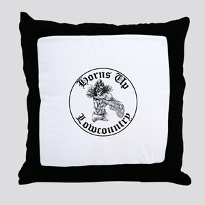 Horns Up Lowcountry Throw Pillow
