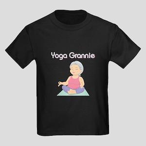 YOGA GRANNIE Kids Dark T-Shirt