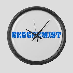 Geochemist Blue Bold Design Large Wall Clock