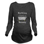 Bathing Beauty Long Sleeve Maternity T-Shirt