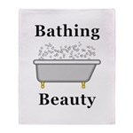 Bathing Beauty Throw Blanket