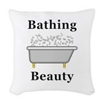 Bathing Beauty Woven Throw Pillow