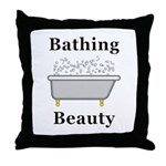 Bathing Beauty Throw Pillow