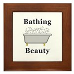 Bathing Beauty Framed Tile