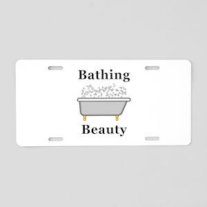 Bathing Beauty Aluminum License Plate