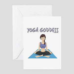 YOGA GODDESS Greeting Card