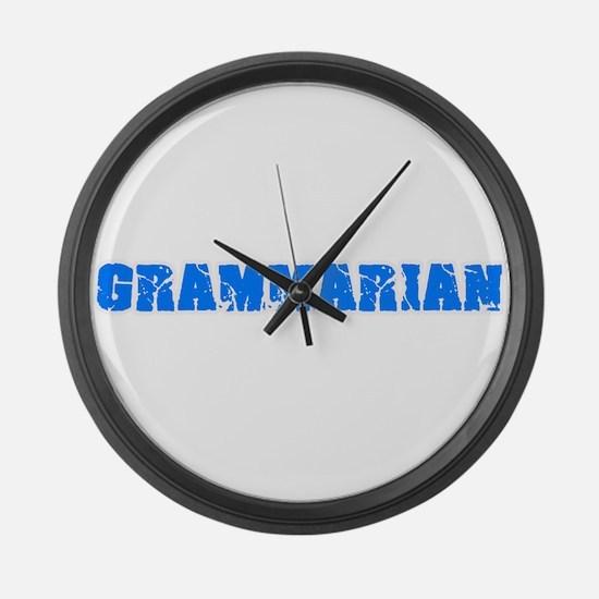 Grammarian Blue Bold Design Large Wall Clock