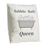 Bubble Bath Queen Burlap Throw Pillow