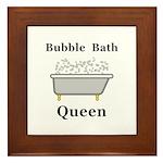 Bubble Bath Queen Framed Tile