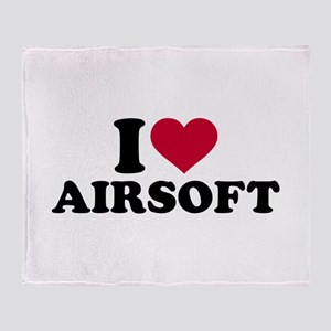 I love Airsoft Throw Blanket