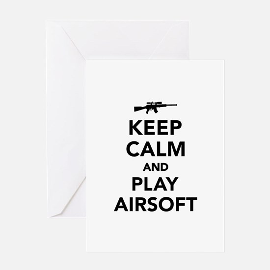 Keep calm and play Airsoft Greeting Card