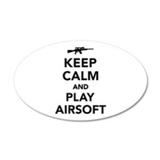 Keep calm and play Airsoft Wall Decal