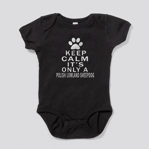 Polish Lowland Sheepdog Keep Calm De Baby Bodysuit
